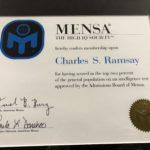 Mensa Membership - Charles S. Ramsay